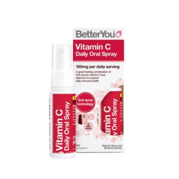 BetterYou Vitamin C Oral Spray is a great-tasting combination of fruit source vitamin C and selenium to support your daily immune health.